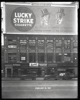 Broadway near 47th Street, New York City, February 25, 1927: Lucky Strike Cigarettes