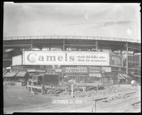 Eighth Avenue and Cathedral Parkway [i.e. 110th Street], New York City, October 31, 1928: Camel Cigarettes, Wrigley's Double Mint Gum. Also 1 empty billboard.