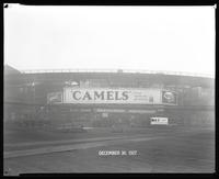 Eighth Avenue and Cathedral Parkway [i.e. 110th Street], New York City, December 30, 1927: Camel Cigarettes, Mavis Chocolate, Wrigley's Double Mint Gum.
