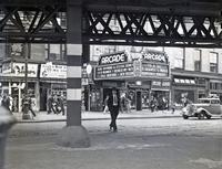 "Arden Theatre, Broadway and 64th Street, showing the marquee advertising ""Behold My Wife,"" ""Red Wagon,"" and ""Two Against the World,"" probably 1937."
