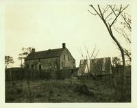 Long Island City: Cornelius Wyckoff House, Old Bowery Bay Road on line of 2nd Avenue between Astoria and North Beach, at the end of the Casina [?] Gas Plant, 1923. Southeast view.