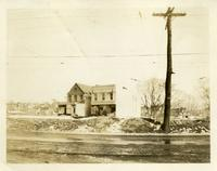 Newtown: two houses moved onto the new line of Queens Boulevard (north side), standing opposite no. 70, 1923.