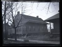 Flatbush:  unidentified Dutch-style house with enclosed porch, undated.