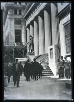 Federal Hall, Wall Street, New York, 1910. Copy photograph of a D-size print.