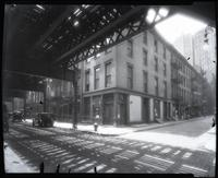 169 - 181 Pearl Street, New York City, circa 1929. View at ground level.