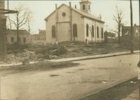 Bushwick: Bushwick Reformed Dutch Church, viewed from Humboldt Street, 1907.