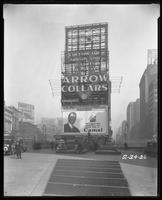 Broadway, 47th Street, and Seventh Avenue, New York City, February 24, 1926 [i.e. 1927?]: Arrow Collars, Camel Cigarettes, Harvester Cigars, Hydrox Ice Cream.