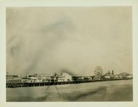 Gravesend: Boardwalk looking east from W. 18 Street, Coney Island, 1923.