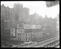 Sixth Avenue and West 27th Street, New York City, January 30, 1929:  Camel Cigarettes, French Hospital Campaign, Gulf No-Nox, Heinz Tomato Ketchup, 'The Last Warning' (motion picture), New York Tuberculosis and Health Association, 'Redskin' (motion pictur