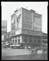 Seventh Avenue and West 34th Street, New York City, September 1925: Valet Auto-Strop Razor, Mikado Pencils, S. & S. Garment Manufacturing Company / Jess Dress Company, Piedmont Cigarettes, Piedmont Cigarettes, Piller Bros. & Herschel (dress store), Knicke