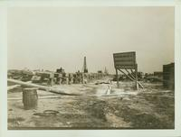 Flatlands: constructing the first pier at the foot of Flatbush Avenue, 1922.