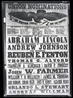 Copy photograph of an 1864 Republican election broadside produced by George F. Nesbitt & Co., printers, New York City.