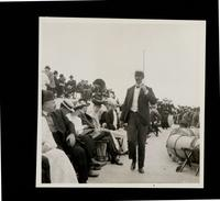New York City: holidaymakers aboard unidentified excursion boat, 1906