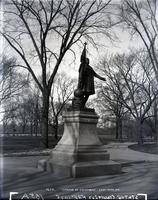 Statue of Columbus, Central Park, New York City, February 1895.