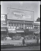 125th Street between Seventh Avenue and Lenox Avenue, New York City, September 26, 1928: Wrigley's Double Mint Gum. Also storefronts of Ideal Shoe Shop, Toby's Men's Shop, Christensen School of Music, Orient Photo Plays.