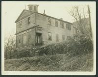 Bronx: Old school house on the old Albany Post Road, village of Mosholu, near 246th Street line, 1930. Destroyed around 1931.