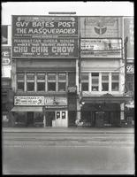 125th Street between Lenox Avenue and Seventh Avenue, New York City, circa 1918: Ivory Garter, Booth Theatre ('The Masquerader'), Manhattan Opera House ('Chu Chin Chow').