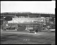 Eighth Avenue and Cathedral Parkway [i.e. 110th Street], New York City, December 28, 1925: Chesterfield Cigarettes, Physical Culture Shoes, Socony Gasoline, [Giolito Brothers Cedar Garden Restaurant?].
