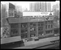Sixth Avenue near 42nd Street, New York City, April 1925: Hotel Times Square, La Palina Cigar, Piedmont Cigarettes, Van-Hart Shoes, Aunt Jemima Pancake Flour (very small), New York Herald Tribune (very small), Arrow Collars (very small), Valet Auto-Strop