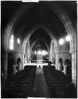 Manhattan: interior of unidentified gothic-style church, undated.