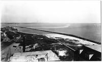 Brooklyn: high-angle view of land owned by the Manhattan Beach Land Co., taken from the Manhattan Beach Hotel, undated (ca. 1905). Right half of a panorama.