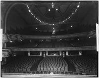 Manhattan: interior view of the New Amsterdam Theatre from the stage, undated.