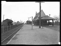 Baldwin railroad station, the Fox Estate, Baldwin, Long Island, April 14, 1920. Photographed for Joseph P. Day.