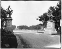 Brooklyn: Ocean Parkway entrance to Prospect Park, 1904. View from inside the park looking out.