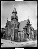 Brooklyn: church built on Bedford Avenue and Madison Street by the Bedford Reform Church (never occupied), undated. Later the Aurora Grata Scottish Rite Cathedral.