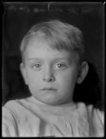 Close-up portrait of William Gray Hassler (little boy), ca. 1912.