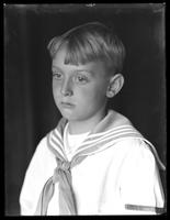 Close-up portrait show of William Gray Hassler (little boy) in sailor suit, September 20, 1914.