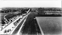 Brooklyn: high-angle view of Brooklyn Museum, Mount Prospect Reservoir, and Eastern Parkway, undated.