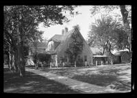 Side view of unidentified suburban  house, undated.