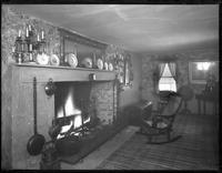 Bayshore, New York: interior Sagtikos Manor House with hearth, [probably 1902].