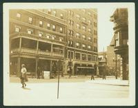 Binghamton: Arlington Hotel, corner of Chenango Street and Lewis Street, opposite the Erie Railroad depot, July, 1925.