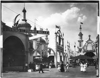 Brooklyn: Luna Park, Coney Island, 1908. The Burning of the Prairie Bell, and the Man Hunt.
