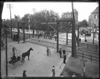 Brooklyn: Railway crossing at the intersection of Atlantic Avenue and Bedford Avenue, undated.