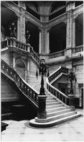 Manhattan: interior grand staircase and galleries of the Metropolitan Life Insurance Company Building, 1 Madison Avenue at 23rd Street & 24th Street, undated (ca. 1905).