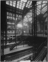 Manhattan: interior tracks and iron roof tracery of Penn Station (i.e. Pennsylvania Station), 1911.