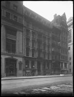 156 Broadway in the early morning, New York City, undated. Photographed for Joseph P. Day.