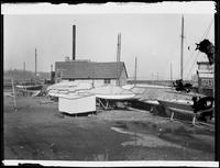 Bayside shipyard, Queens, March 25, 1921. Some emulsion damage to neg.