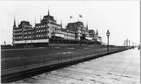 Brooklyn: the Oriental Hotel with  boardwalk in foreground, Manhattan Beach, undated (ca. 1905). View from the southwest.
