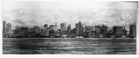 Manhattan: Lower Manhattan skyline and the Hudson River, from New Jersey, undated (ca. 1900). Piers 4 to 13 visible.