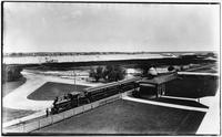 Brooklyn: L.I.R.R. (Long Island Railroad) train and station, located behind the Manhattan Beach Hotel, undated (ca. 1905).