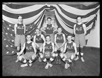 ALC basketball team group portrait, undated (ca. 1913-1914).