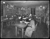 Adult reference room, Flushing branch of Queens Borough Public Library, November 21, 1914.
