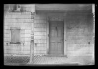 Front door of an unidentified house, undated.