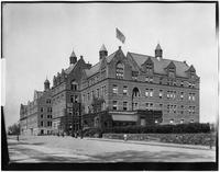 Bronx: Morris High School, E. 166th Street and Boston Road, undated. Low-angle 3/4 view.