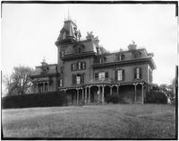 Staten Island: Anson Phelps Stokes House, between Hamilton Avenue and St. Mark's Place near Phelps Place, undated. Rear view.
