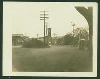 Chatham: View looking east of train station, October 1925.
